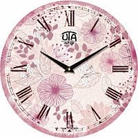 Настенные Часы Vintage Волшебный Розовый Сад