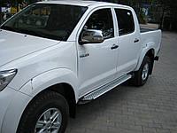 "Пороги боковые ""Sapphire"" V1 на Toyota Hilux, фото 1"
