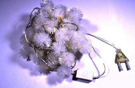Светодиодная гирлянда внутренняя  снежок RGB Код.57314