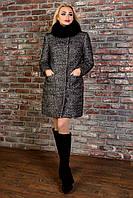 "Modus Пальто ""Мелини букле крупное песец зима"""