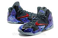 Баскетбольные кроссовки  Nike Lebron 11 черно-синие
