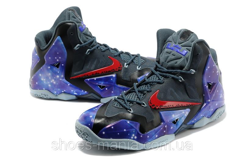 Баскетбольные кроссовки Nike Lebron 11 черно-синие - Интернет магазин обуви  Shoes-Mania в 4996d0bc673