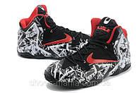 Баскетбольные кроссовки Nike Lebron 11 Черно-белые, фото 1