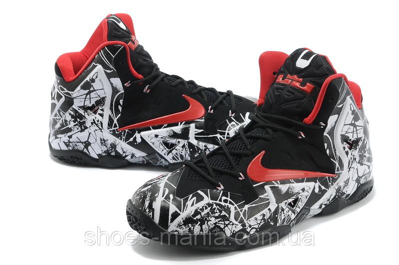 Баскетбольные кроссовки Nike Lebron 11 Черно-белые - Интернет магазин обуви  Shoes-Mania в b3aaba0f05c