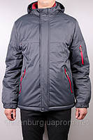 Куртка зимняя мужская BLACK VINYL 13-299 серая