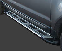 "Пороги боковые ""Sapphire"" V2 на Toyota Hilux"
