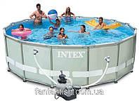 Каркасный бассейн INTEX 54958 серый (549х132 см.) + насос-фильтр c хлоргенератором IKD /648