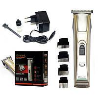 Машинка для стрижки волос и бороды Gemei GM 657, 4 насадки, титановые ножи, 5 Вт, аккумулятор/220V