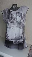 Молодежная футболка с принтом nero Jadea 4528,  Италия, размер М/Л
