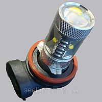 Автомобильная светодиодная лампа с цоколем H11 в противотуманные фонари Cree 30W  Линза