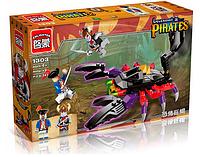 Конструктор BRICK 1303 (48шт) пиратская серия, скорпион, 2 фигурки, 147дет, в кор-ке, 16-27-5 см