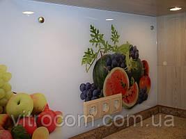 Скляна панель на кухонну стіну з малюнком