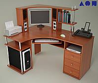 Угловой компьютерный стол С820 с надстройкой Н821, фото 1