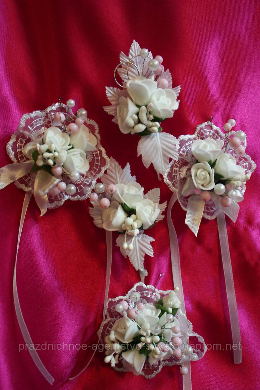 Свадебные бутоньерки для жениха