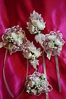 Свадебные бутоньерки для жениха, фото 1