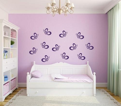 Виниловая наклейка на стену Фиолетовые Бабочки - Интернет-магазин BrosStore в Киеве