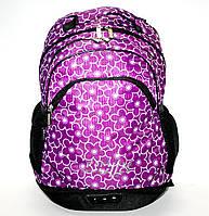 365 Сиреневый Рюкзак ортопедический с донышком- отделением для обуви