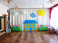 Выпускной.Оформление воздушными шарами. Детский сад.
