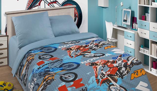 Подростковый постельный комплект «Мотокрос», KidsDreams