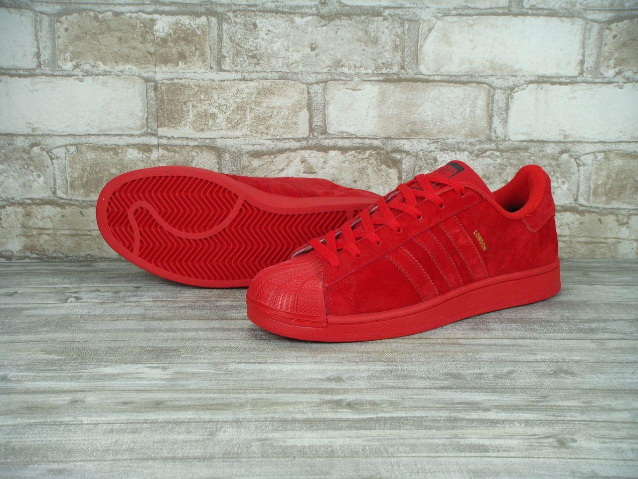 4a2034e8 Мужские кроссовки Adidas Superstar London в красном цвете купить в ...
