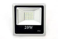 Светодиодный LED прожектор SLIM SMD 20Вт 20W холодный