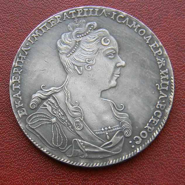 1 рубль 1727 Екатерина
