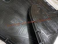 Коврик в багажник из мягкого полиуретана NorPlast на Volkswagen Caddy 3 2004-2010 задние сдвижные двери