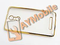 Чехол силикон Xiaomi Redmi Note 3 Fashion Case золотой