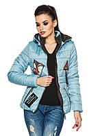 Женская куртка весна-осень стеганая, фото 1