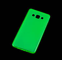 Чехол для Samsung Galaxy A5 (A500) силиконовый бампер зеленый