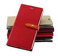 Чехол книжка для Xiaomi Redmi 3s / Redmi 3 Pro Goospery Romance красный тест