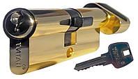 Цилиндровый механизм ТИТАН 60(30*30)-C PB ключ-поворотник