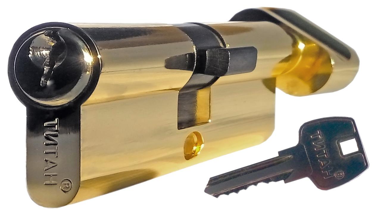 Циліндровий механізм ТИТАН 70(35*35)-C PB ключ-поворотник