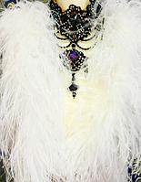 Боа страусинное трехслойное.Цвет белый. Длинна 1,8м