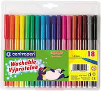 Фломастеры набор centropen 18 цветов чехия 7790/18  7790-18 Centropen
