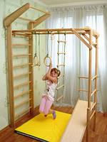 Лиана складной уголок и шведская стенка 230 см, горка, кольца, канат и лесенка в наборе, фото 1