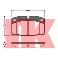 Колодки тормозные дисковые комплект NK 223606