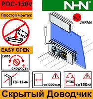 Мощный Доводчик скрытый для маятниковых стеклянных дверей до 150кг (Япония)