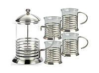 Чайник пресс Frico FRU-330: 4 чашки, ситечко, подставки из нержавеющей стали, колба 600 мл