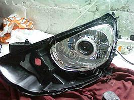Установка билинз G5 с глазами на Hyundai Accent 1