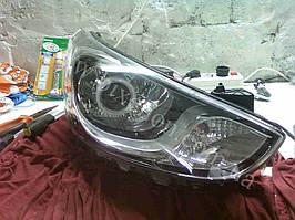 Установка билинз G5 с глазами на Hyundai Accent 2