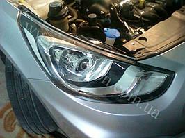 Установка билинз G5 с глазами на Hyundai Accent 4