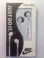Наушники Nike NK-A94 white вакуумные