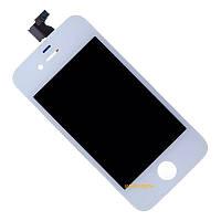 Дисплей (LCD) Apple iPhone 4 c сенсором (тачскрином) и рамкой White