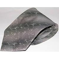Серый шелковый галстук стандартный Schönau - 150