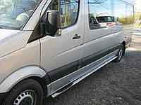 Пороги боковые, защитные дуги (трубы B2) Volkswagen Crafter (средняя база)