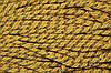 Канат декоративный 10мм (50м) желтый+золото
