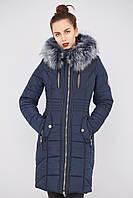 """Куртка женская удлиненная зимняя """" Канада """" с мехом."""