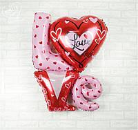 Надувное фольгированное слово Love большое
