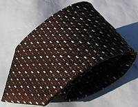 Коричневый шелковый немецкий галстук Schönau - 155